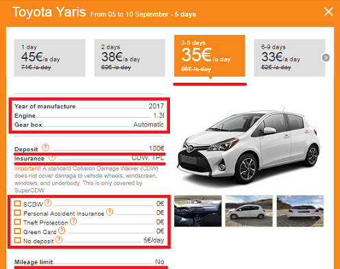 Rent a car in Budva via us, and you will save up to 55%